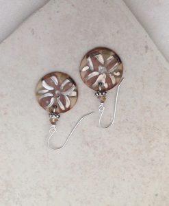 blooming flower circle earrings