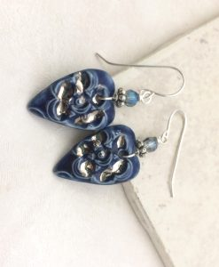 Blossom Large Denim earrings