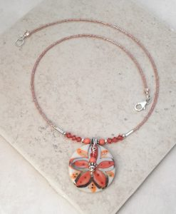 Coral blooming Flower Necklace