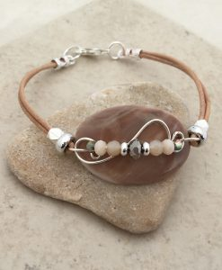 Sandy oval beach bracelet