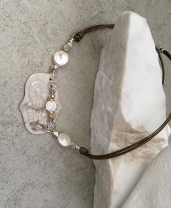 Goddess mother of Pearl necklace