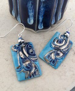 Ancient Tile Large Rectangle Earrings