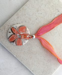 Blooming Flower ribbon Necklace